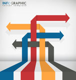 Interlaced Arrow. Abstract Infographic Vector Template Stock Photo