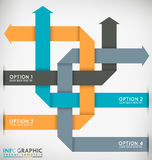 Interlaced Arrows. Decorative Infographic Vector Template Interlaced Arrows Royalty Free Stock Image