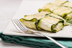 Interlaced courgettes or zucchini slices Royalty Free Stock Photography