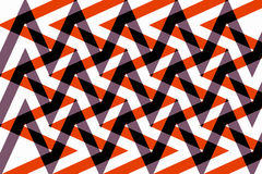 Interlaced design geometric pattern and zigzag Royalty Free Stock Images