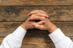 Interlaced fingers Royalty Free Stock Image
