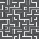 Interlaced white geometric pattern. Interlocking seamless  background. Stock Images