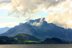 interlachen berg över Fotografering för Bildbyråer