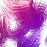 Interlacing abstract pink curves. 3D rendering Stock Image