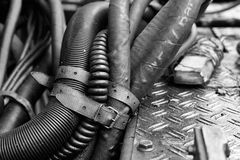 Interlacing of hoses and tubes. Royalty Free Stock Photography