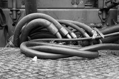 Interlacing of hoses and tubes. Stock Photos