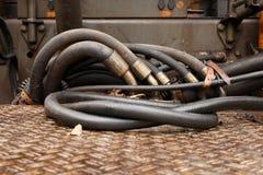 Interlacing of hoses and tubes. Royalty Free Stock Photos