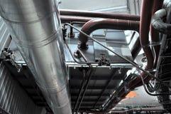 Interlacing  metall tubes Royalty Free Stock Photo