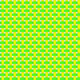 Interlacing paper, fabric green and yellow tapes with drop shadows and bending elements.  Royalty Free Stock Photos