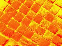 Interlacing in red and yellow colors. Bright image. Interlacing in red and yellow colors stock image