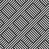 INTERLACING STRIPED LINES. HERRINGBONE SEAMLESS VECTOR PATTERN. royalty free illustration