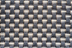 Interlacing of threads in fabric Stock Photos