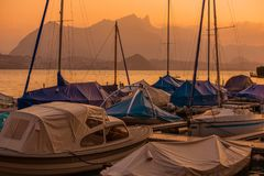 Interlaken-Bootfahrt die Schweiz Stockfotografie