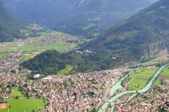 Interlaken. Die Schweiz. lizenzfreie stockbilder