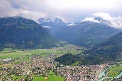 Interlaken. Die Schweiz. stockbild