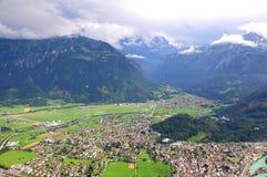 Interlaken. Die Schweiz. lizenzfreies stockbild
