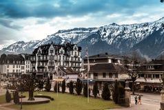 Interlaken, die Schweiz stockfotos