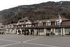 Interlaken, die Schweiz lizenzfreie stockfotografie