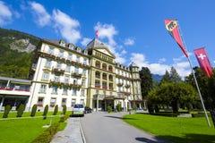 Interlaken, hotel magnífico Beau Rivage de Lindner Imágenes de archivo libres de regalías