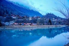 Interlaken i Schweiz Arkivbilder