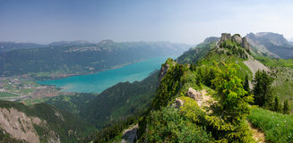 Interlaken and Lake Brienz Stock Photos