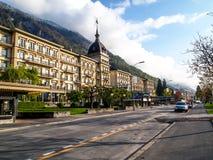 Interlaken pendant le matin, Suisse Photographie stock
