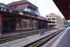 Interlaken station Royalty Free Stock Photo