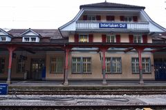 Interlaken station Stock Photo