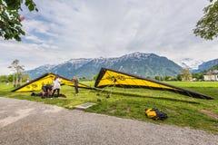 Hang gliding Stock Image