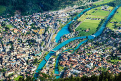 Interlaken town, Switzerland Royalty Free Stock Photo