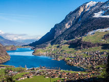 Interlaken. View of Interlaken, town between lakes and mountains, Switzerland Stock Photography