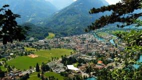 Interlaken widok z lotu ptaka przy latem zbiory wideo