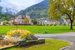 Interlaken, Zwitserland Zwitsers landschap royalty-vrije stock afbeelding