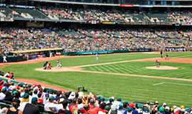 Interleague pierwsza liga baseballa gra Zdjęcie Royalty Free