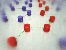 Interlinked nodes Royalty Free Stock Photo