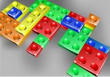 Interlock bricks design Stock Photos