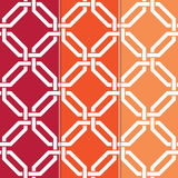 Interlocked Geometric Pattern. Set of 3 Seamless Interlocked Octagon, Geometric Background Patterns in Different Colors Stock Photography