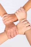 Interlocked hands Royalty Free Stock Image