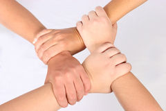 Interlocked hands Royalty Free Stock Photo