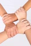 interlocked händer Royaltyfri Bild