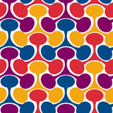 Interlocked Seamless triangular geometric pattern Stock Photo
