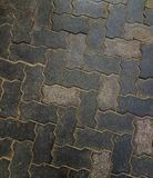 Interlocking cement pavement patten texture rock for background. Floor for exterior designing Royalty Free Stock Photography