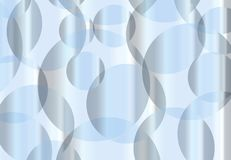 Abstract Cold Blue Circles And Spheres Background. Interlocking circles in blue as an abstract background Royalty Free Stock Photos