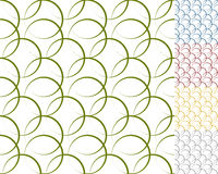 Interlocking circles, rings with dynamic outline - Set of 5 seam. Less pattern background - Royalty free vector illustration vector illustration