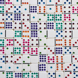 Interlocking Colorful Dominoes Texture Stock Images