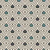 Interlocking figures tessellation background. Repeated geometric shapes. Ethnic mosaic ornament. Oriental wallpaper. Interlocking figures tessellation abstract Stock Photography