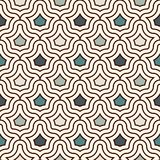 Interlocking figures tessellation background. Repeated geometric shapes. Ethnic mosaic ornament. Oriental wallpaper. Interlocking figures tessellation abstract Stock Images