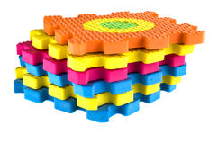 Interlocking foam mats toy. Colourful interlocking foam mats toy Royalty Free Stock Photography