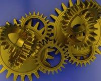 Interlocking gears royalty free illustration