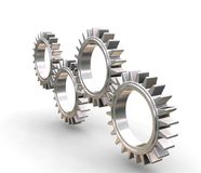 Interlocking gears Royalty Free Stock Photos